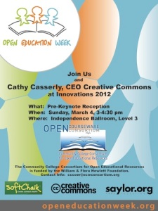 Open Education Week Reception with Cathy Casserly, CEO Creative Commons