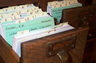old library card catalog